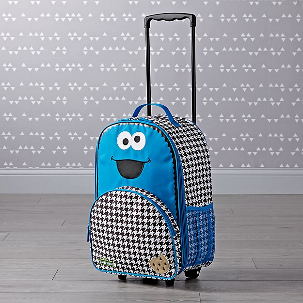 Sesame Street Cookie Monster Rolling Luggage + Reviews  4b6605abf