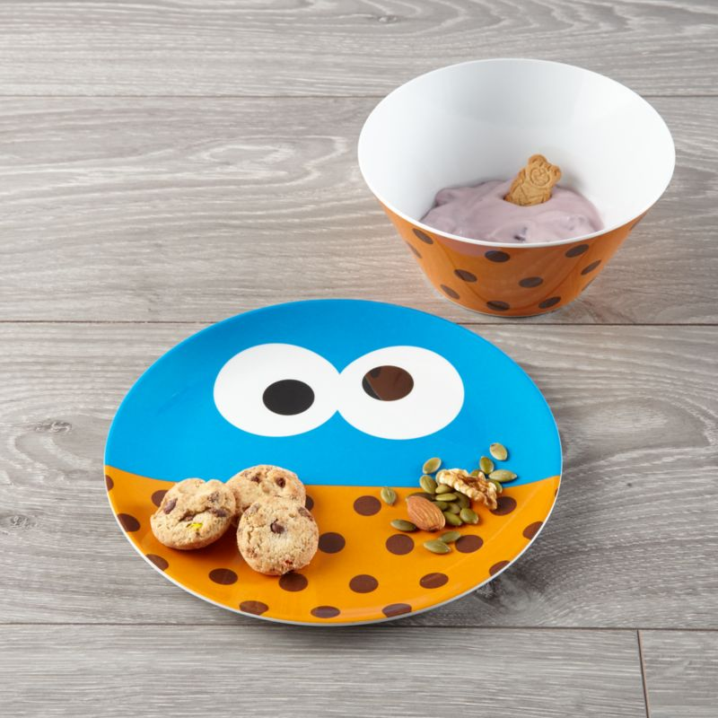 Cookie Monster Melamine Plate And Bowl Set Crate And Barrel
