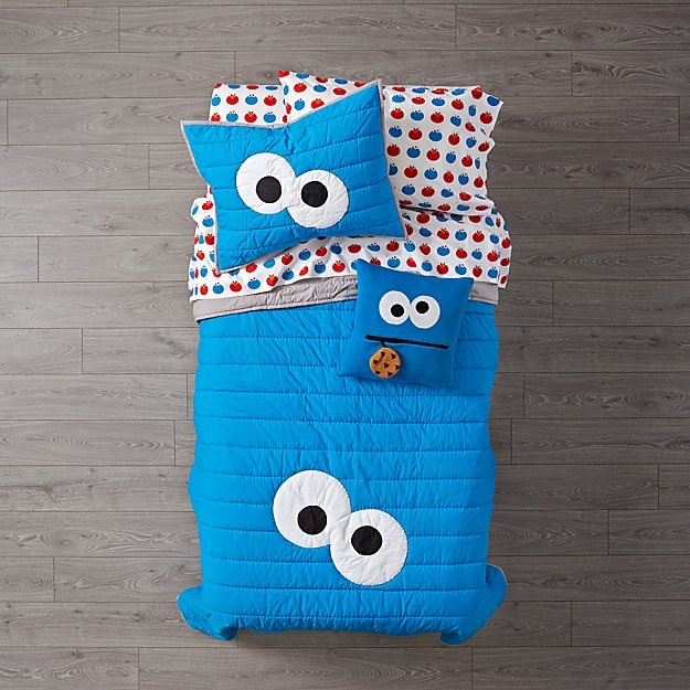 Sesame Street All Eyes Cookie Monster Quilt Crate And Barrel