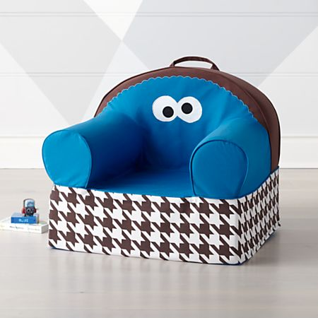 Super Sesame Street Large Cookie Monster Nod Chair Crate And Barrel Theyellowbook Wood Chair Design Ideas Theyellowbookinfo
