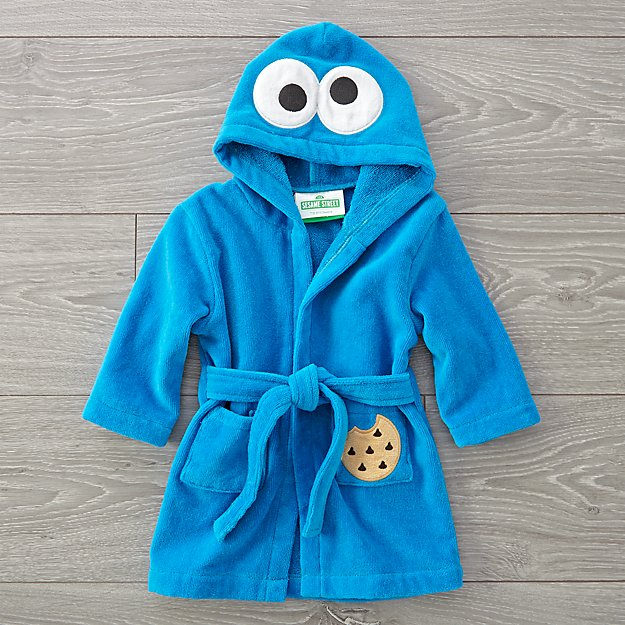fc60f52201eb Sesame Street Fuzzy Cookie Monster Baby Robe + Reviews