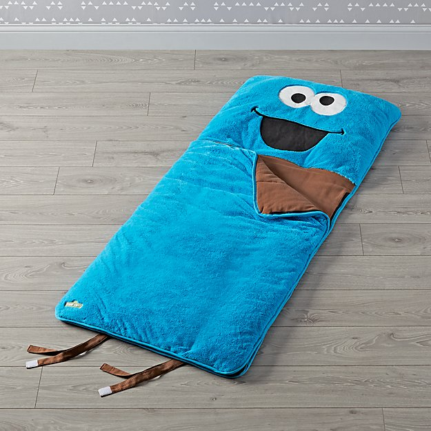 Sesame Street Furry Cookie Monster Sleeping Bag Reviews Crate And Barrel