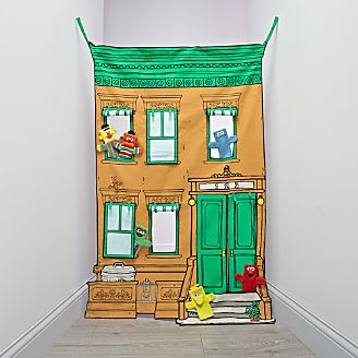 Sesame Street Puppet Theater Set & Playhouses Teepees u0026 Tents | Crate and Barrel