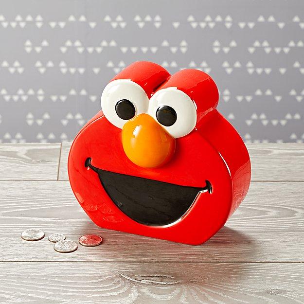 f59123e2a1 Sesame Street Elmo Piggy Bank + Reviews | Crate and Barrel