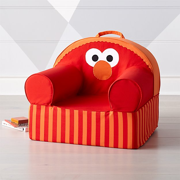 Sesame Street Large Elmo Nod Chair Reviews Crate And Barrel