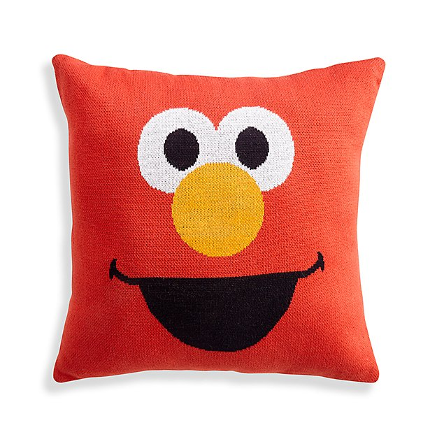 Sesame Street Elmo Knit Throw Pillow Reviews Crate And Barrel