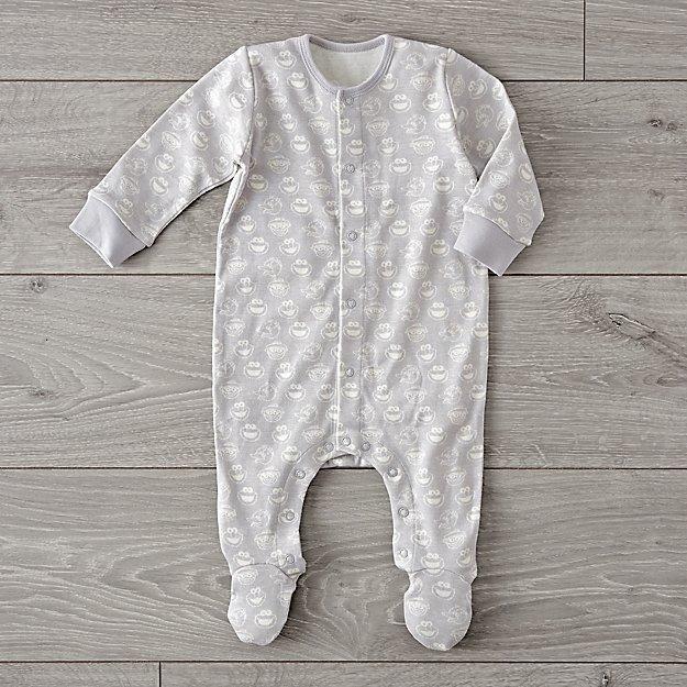 481037be3577 Sesame Street Grey 0-3 Months Footie Pajamas + Reviews
