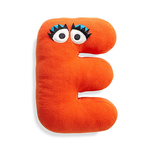 Sesame Street Letter E Throw Pillow Reviews Crate And Barrel