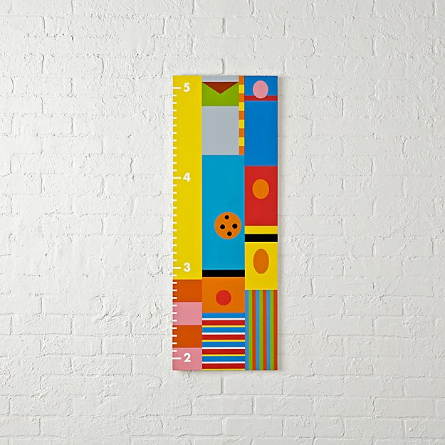 Sesame Street Minimalist Growth Chart Reviews Crate And Barrel