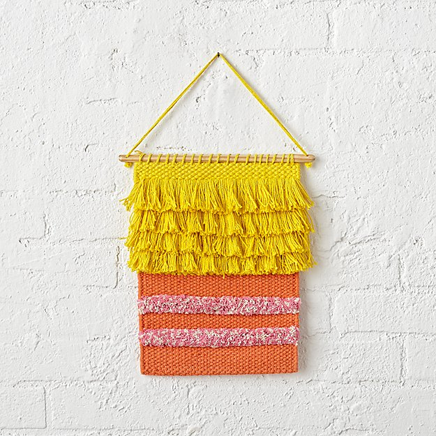 Sesame Street Big Bird Woven Wall Hanging + Reviews | Crate and Barrel