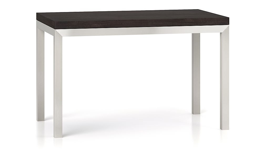 Parsons Pine Top/ Stainless Steel Base 48x28 Dining Table