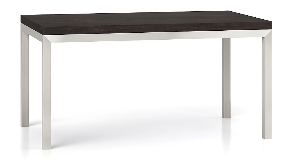 Parsons Pine Top Stainless Steel Base X Dining Table Reviews - Square parsons dining table