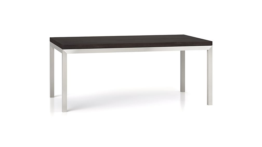 Parsons Pine Top/ Stainless Steel Base 60x36 Dining Table