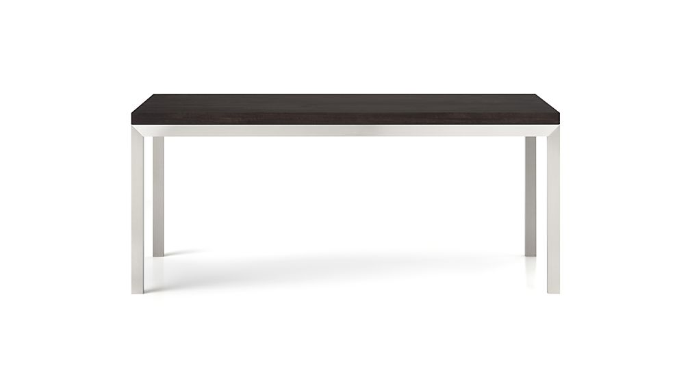 Parsons Pine Top/ Stainless Steel Base 72x42 Dining Table