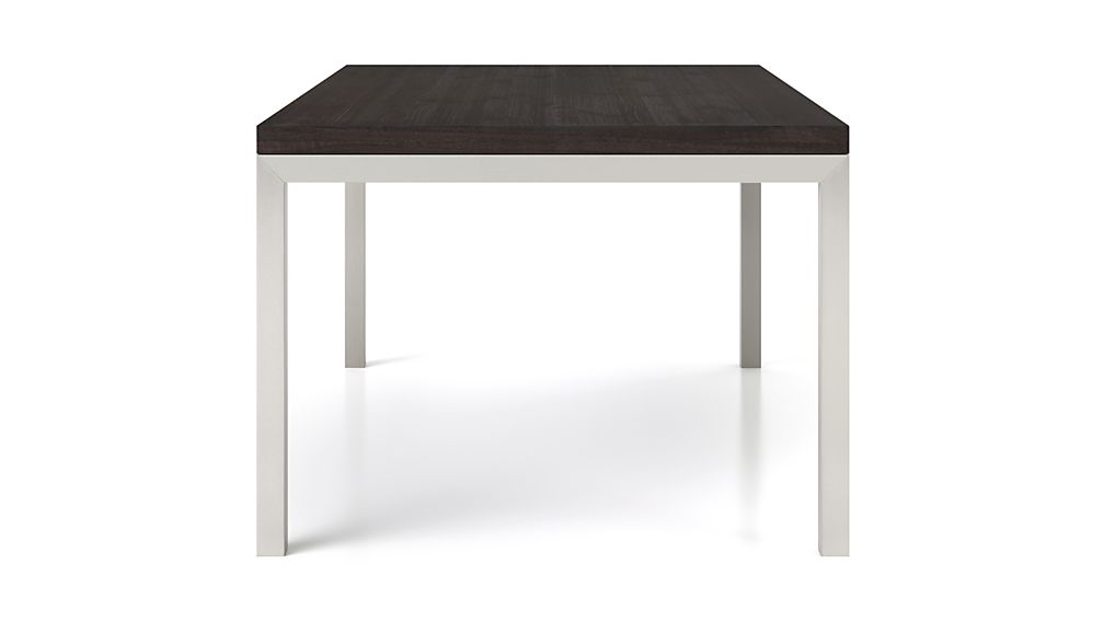 Parsons Pine Top/ Stainless Steel Base 48x28 High Dining Table