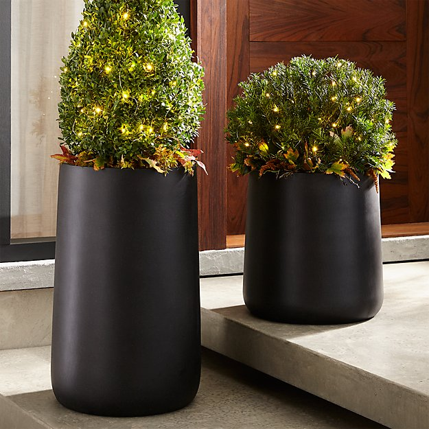 saabira fiberstone 15 5 tall planter reviews crate and barrel. Black Bedroom Furniture Sets. Home Design Ideas