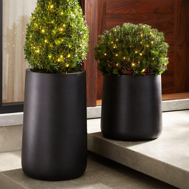 Saabira Fiberstone Planters. Outdoor Planters  Pots and Garden Tools   Crate and Barrel