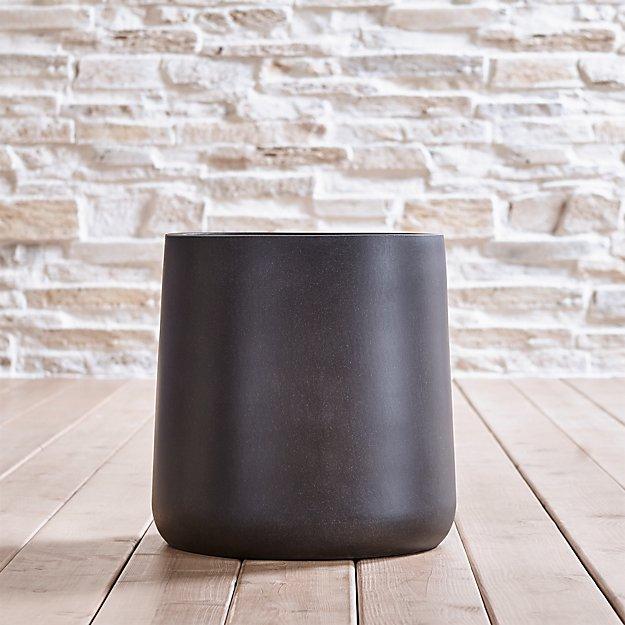 saabira fiberstone 15 5 tall planter crate and barrel. Black Bedroom Furniture Sets. Home Design Ideas