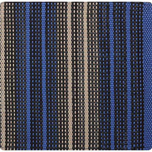 "Sachi Blue Stripe Indoor/Outdoor 12"" sq. Rug Swatch"
