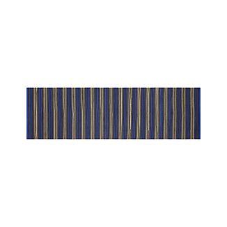 Sachi Blue Stripe Indoor/Outdoor 2.5'x8' Rug Runner