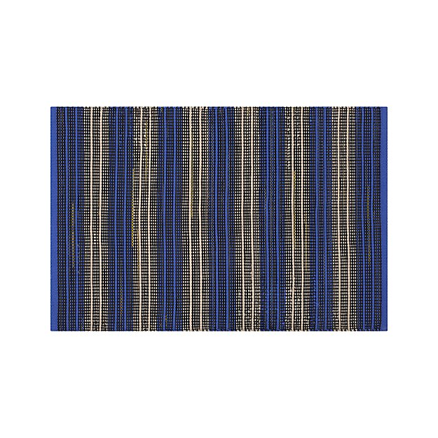 Sachi Blue Stripe Indoor/Outdoor 2'x3' Rug