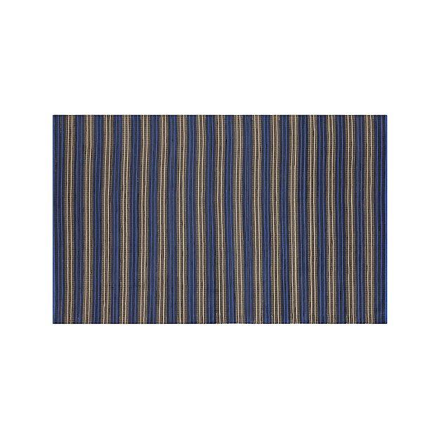Sachi Blue Stripe Indoor/Outdoor 5'x8' Rug