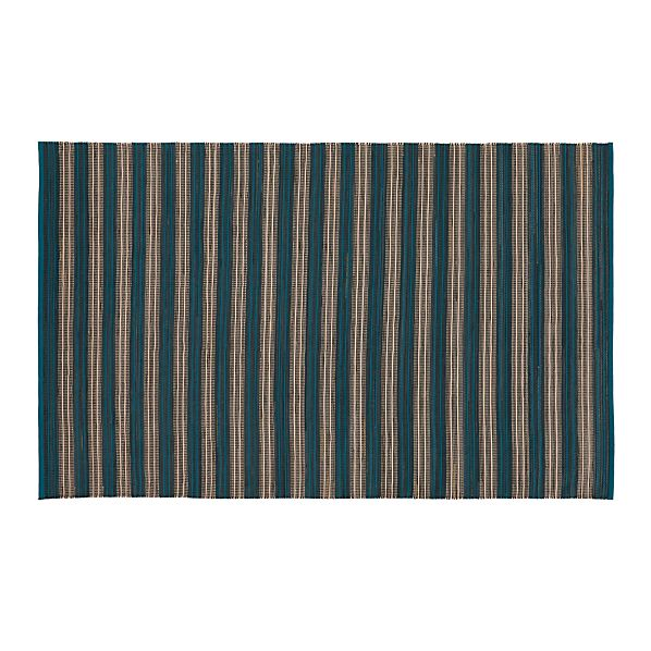 SachiStripeTeal5x8RugS17