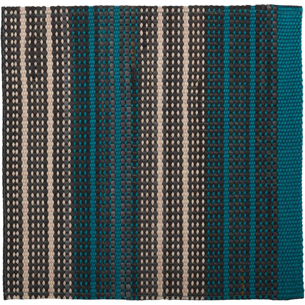 Sachi Teal Stripe Indoor/Outdoor 12