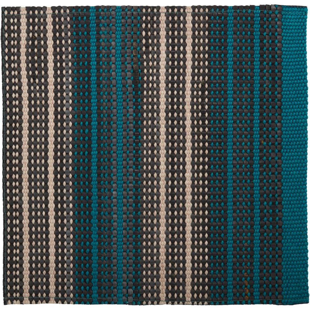 Sachi Teal Stripe Indoor/Outdoor 12