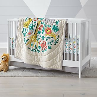 Safari Club Crib Bedding 3 Piece Set