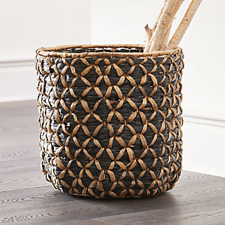Safiyah Woven Black and Natural Basket