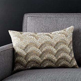 "Sahana 18""x12"" Pillow with Down-Alternative Insert"