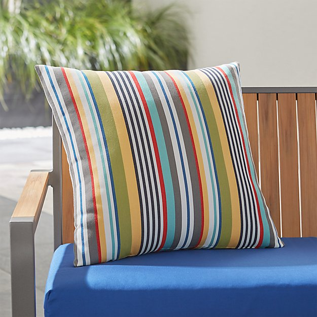"Sunbrella ® Sailing Striped 20"" Sq. Outdoor Pillow"