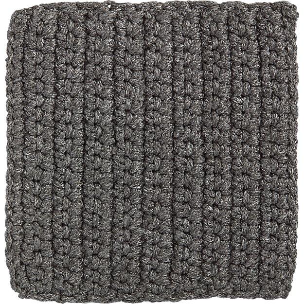 Salome charcoal grey indoor outdoor 12 sq rug swatch for Cb2 indoor outdoor rug
