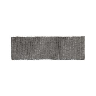 Salome Charcoal Grey Indoor/Outdoor 2.5'x8' Rug Runner