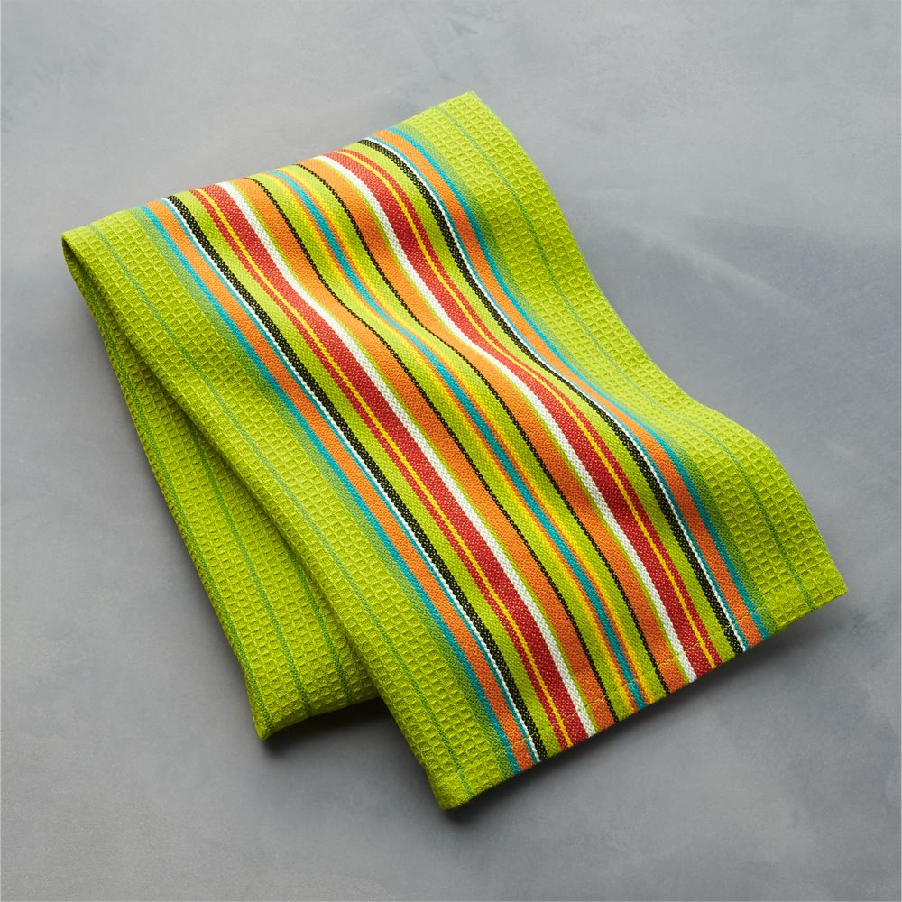 Salsa Dos Green Dish Towel - Crate and Barrel