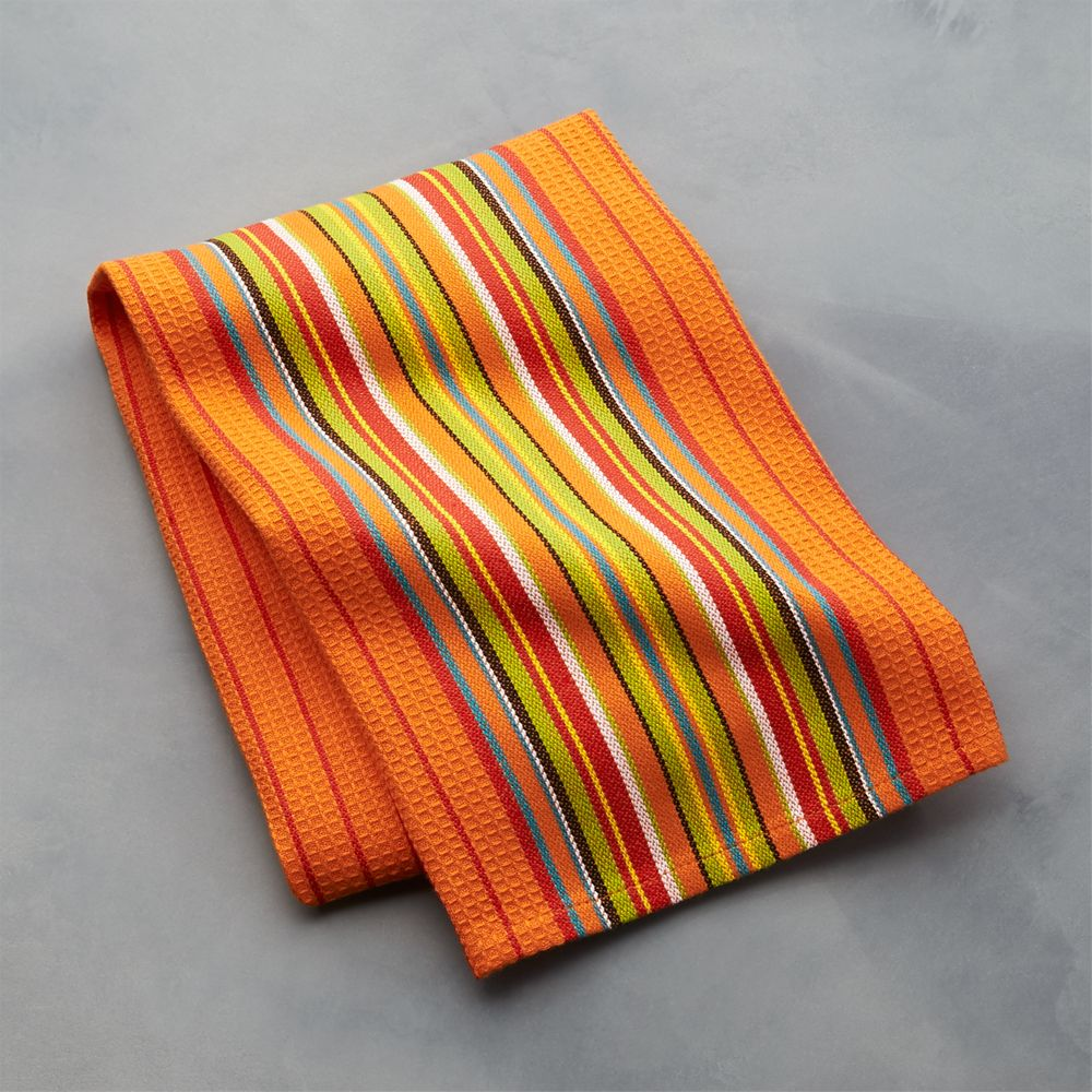 Salsa Dos Orange Dish Towel - Crate and Barrel