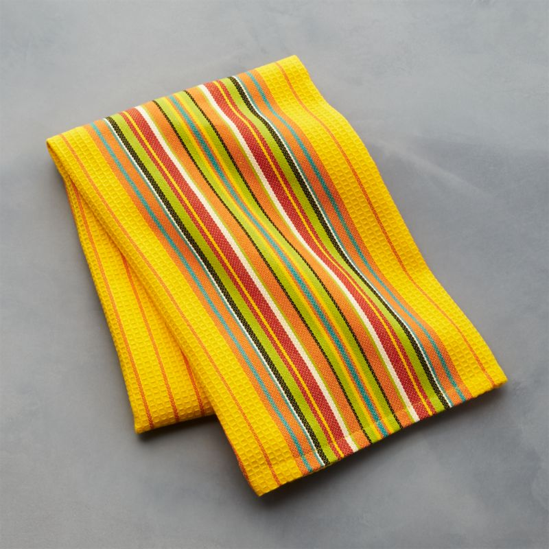 Salsa Dos Yellow Dish Towel Crate and Barrel