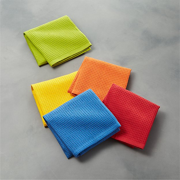 Salsa Solid Dish Cloths, Set of 5