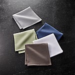Salsa Solid Neutral Dish Cloths, Set of 5
