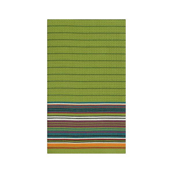 Salsa Stripe Green Dishtowel