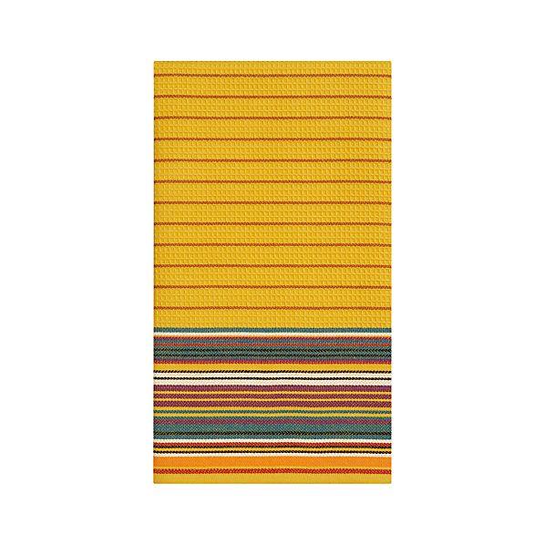 Salsa Stripe Mustard Dishtowel