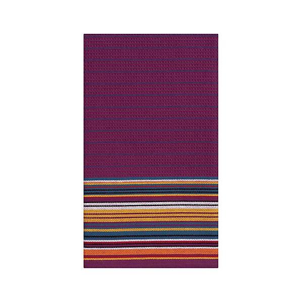Salsa Stripe Purple Dishtowel