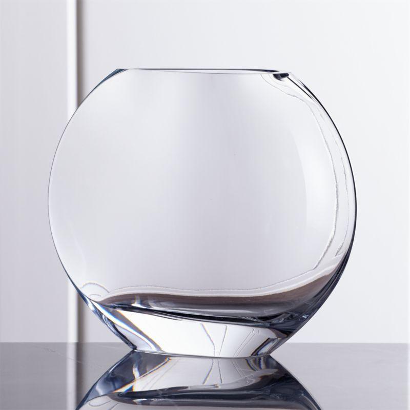 samara large glass vase crate and barrel. Black Bedroom Furniture Sets. Home Design Ideas