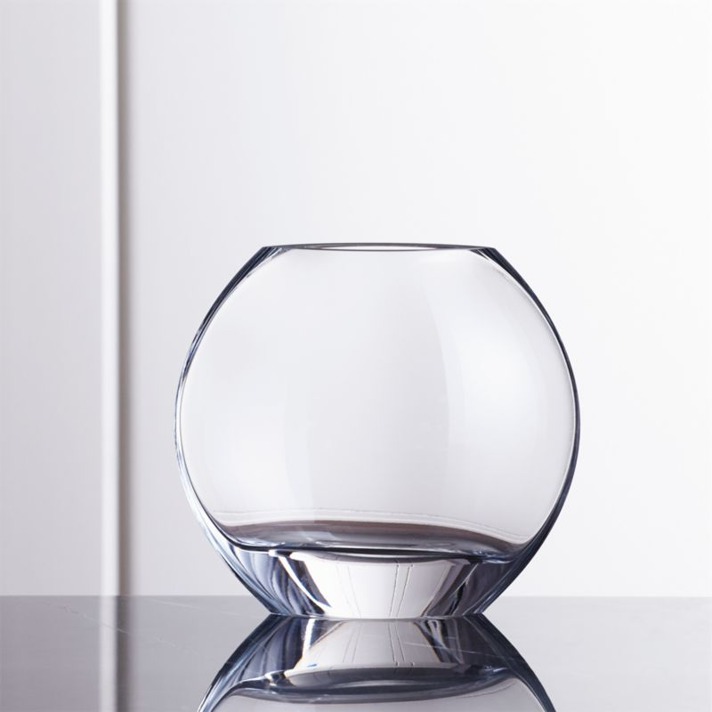 samara small round glass vase crate and barrel. Black Bedroom Furniture Sets. Home Design Ideas