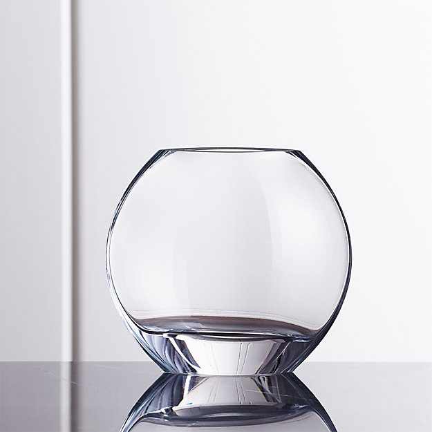 Samara Small Round Glass Vase