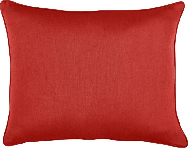 Spicy caliente wraps the optional back pillow for Sanibel Chaise Lounge.<br /><br /><NEWTAG/><ul><li>Fade- and mildew-resistant Sunbrella acrylic</li><li>Recycled polyester fill</li><li>Spot clean</li></ul>
