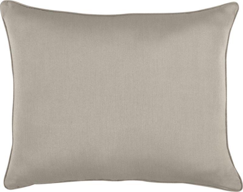 Stone wraps the optional back pillow for Sanibel Chaise Lounge.<br /><br /><NEWTAG/><ul><li>Fade- and mildew-resistant Sunbrella acrylic</li><li>Recycled polyester fill</li><li>Spot clean</li><li>Made in USA</li></ul>