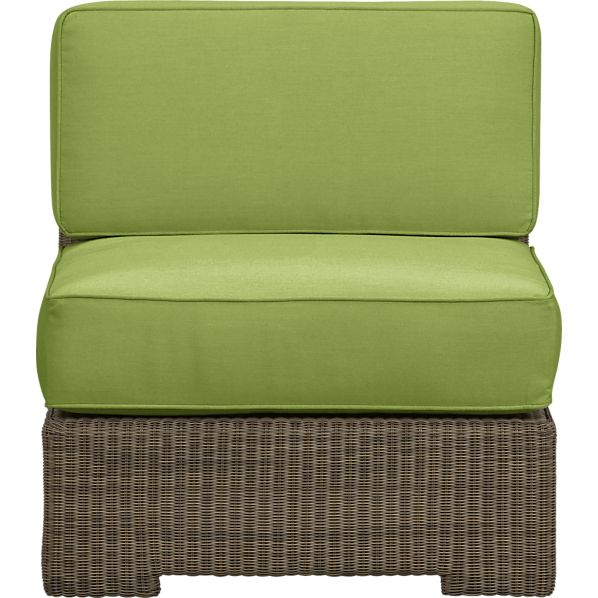 Sanibel Modular Armless Chair with Sunbrella ® Kiwi Cushions