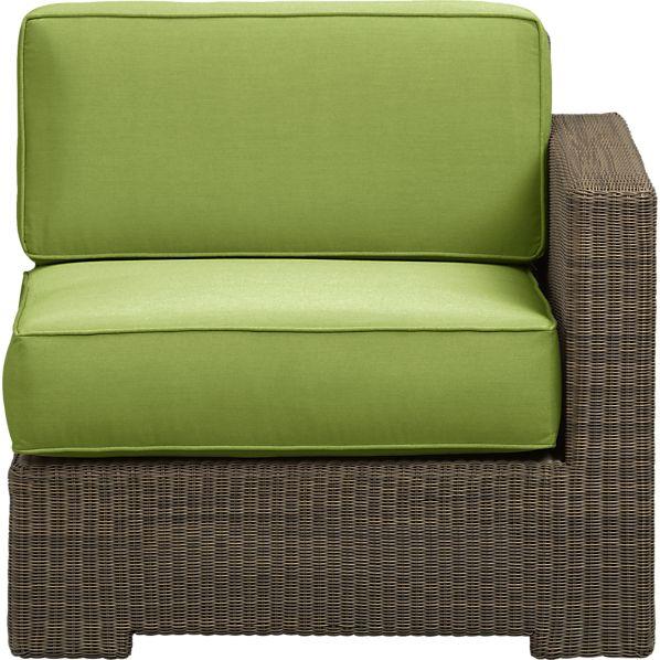 Sanibel Modular Right Arm Chair with Sunbrella ® Kiwi Cushions